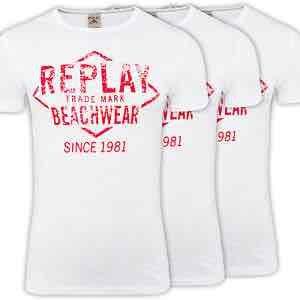[eBay] 3er Pack Replay T-Shirts, Herren, weiß