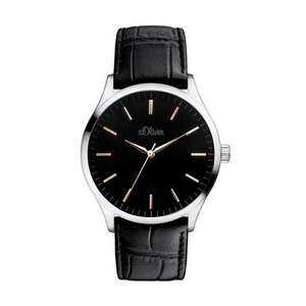 (OneDealOneDay) s.Oliver Herren-Armbanduhr XL Analog Quarz Leder SO-3052-LQ für € 48,85