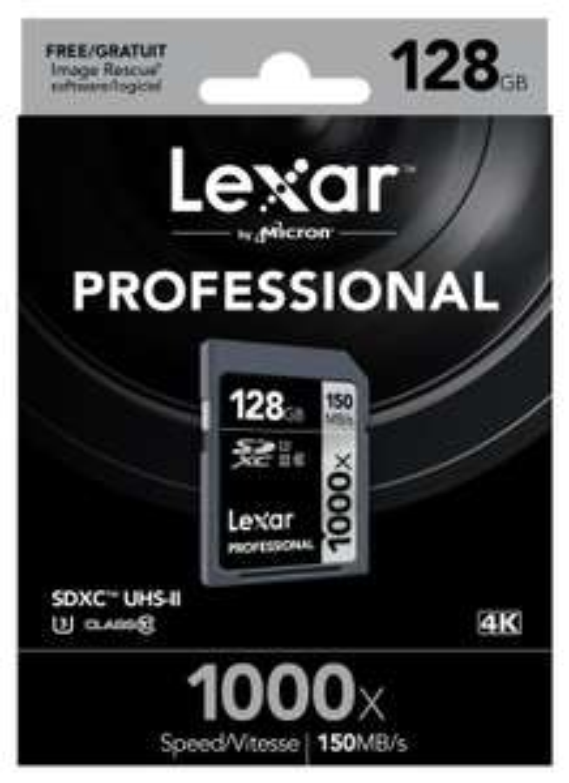 Lexar Professional SDXC 1000x 128GB  UHS-II Flash-Speicherkarte für 46,90€ @Amazon.de Blitzangebot