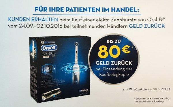 Braun Oral-B Genius 9000 mit 50 % Rabatt 24.09.-02.10.16