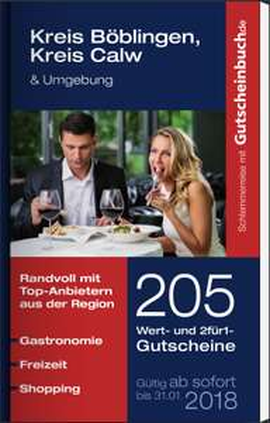 Gutscheinbuch 2016/2017 - u.a. für Böblingen, Esslingen, Heilbronn, Ludwigsburg, Konstanz, Tübingen für 13,94€ statt 23,90€