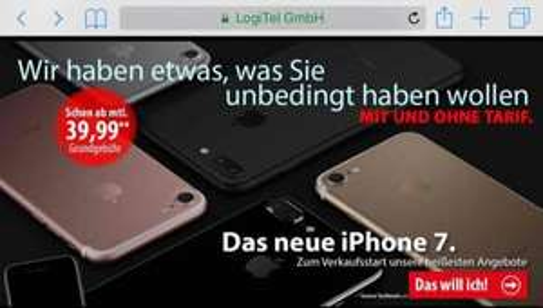 iPhone 7  mit Vertrag bei Vodafone