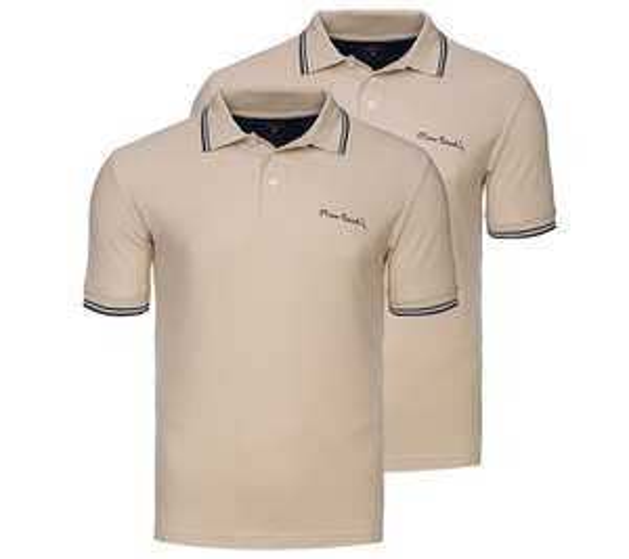 NEU 2er Pack PIERRE CARDIN Tipped Poloshirts Herren Polohemd versch. Modelle