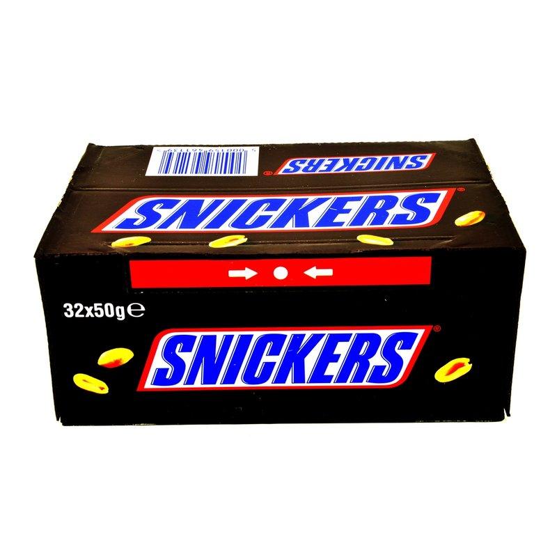 (mapalu)  Snickers Karton 32 Riegel á 50 g  MHD: 21.08.2016