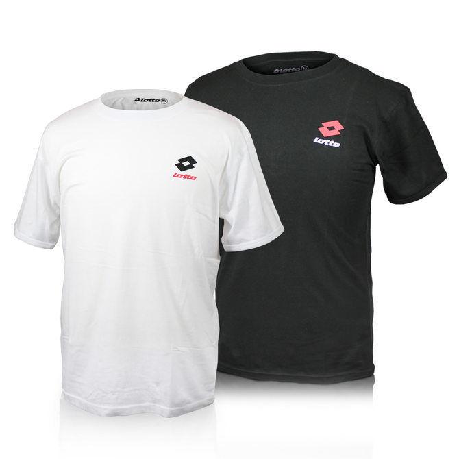 6er Pack Lotto T-Shirts Schwarz oder Weiß (M, L, XL, XXL) Shirt (100% Baumwolle) für 14,99€ @ebay.de