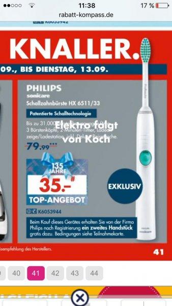 Philips Sonicare Schallzahnbürste HX 6511/33   35 €     KARSTADT >online und lokal