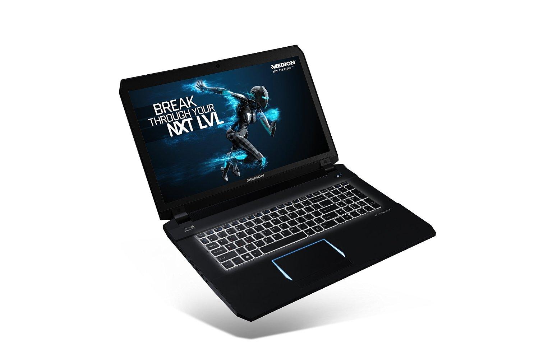 Medion Erazer X7841 mit Intel i5-6300HQ bis 4x 3,2GHz, 8GB DDR4, GTX970M 3GB GDDR5, 17,3 Zoll Full-HD IPS matt, 128GB SSD, 1TB HDD, Windows 10 für 1.049€ bei Amazon