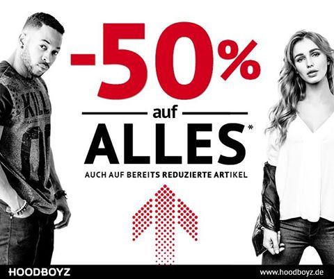 Hoodboyz - 50 % Rabatt auf ALLES - Kein Mindesbestellwert !