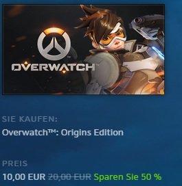 [PC] Overwatch Upgrade auf Origin Edition für 10€ anstatt 20€ direkt im Battle.net