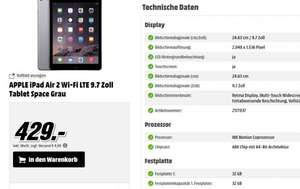 [Mediamarkt] APPLE iPad Air 2 Wi-Fi LTE