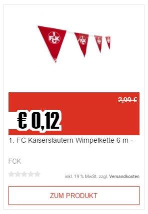 [TOP12] 1. FC Kaiserslautern Artikel für wenig Geld