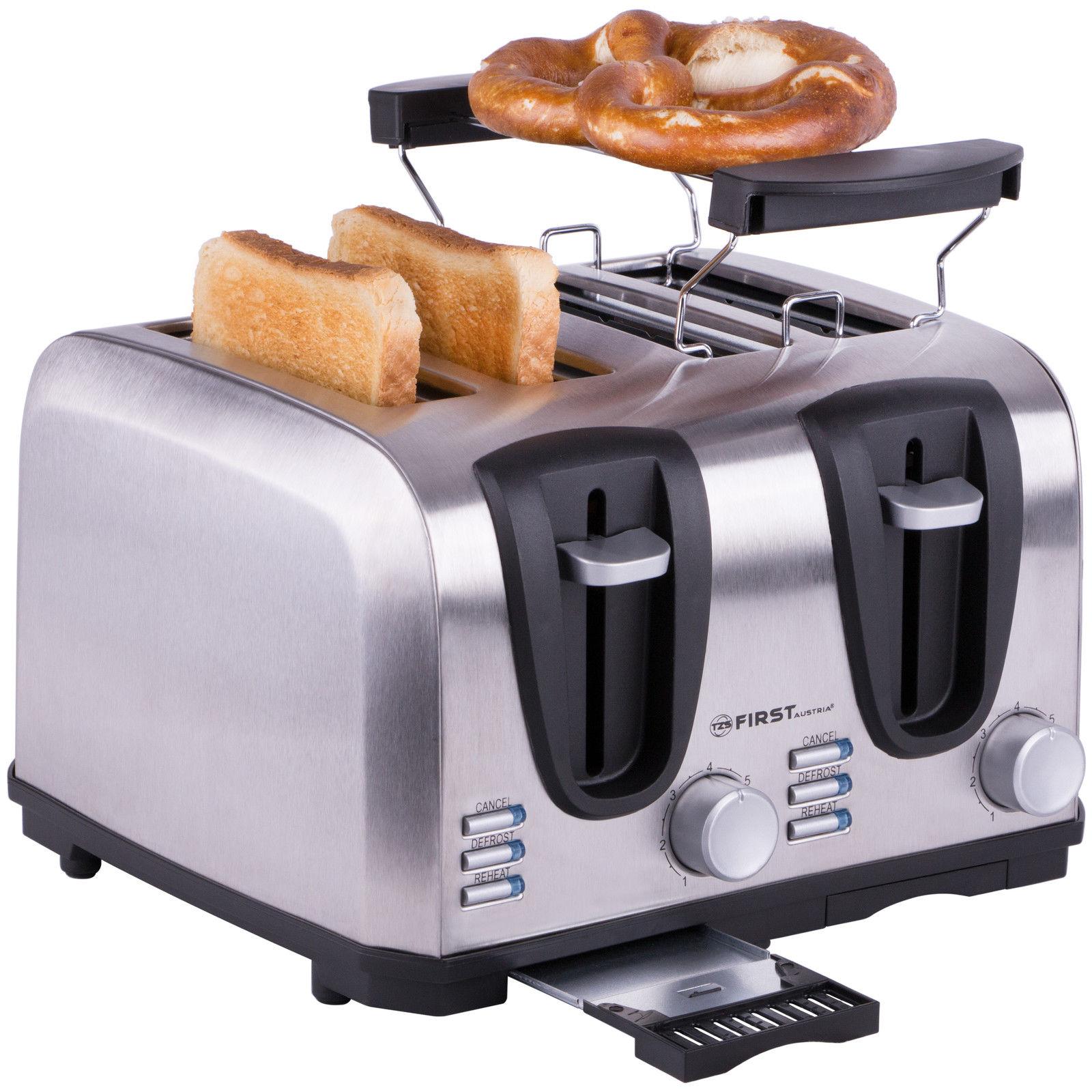 1 bis 4 Scheiben Toaster Edelstahl