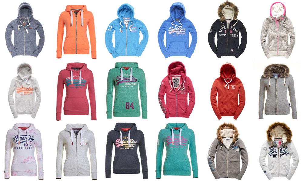 Ebay WOW Neuer Damen Superdry Kapuzenpulli Versch. Modelle und Farben für 29,95