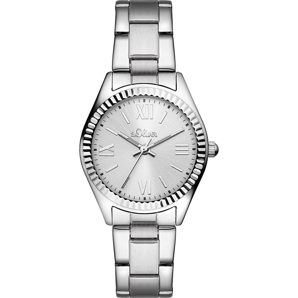 (OneDealOneDay) s.Oliver Damen-Armbanduhr Analog Quarz Edelstahl SO-3082-MQ