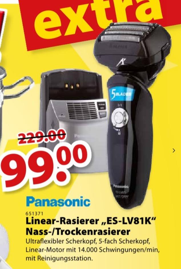 [Gewerbetreibende] Nass-/Trockenrasierer mit Reinigungsstation Panasonic ES-LV81 für 117,81€ (brutto) ab dem 16.09. beim SB-Zentralmarkt