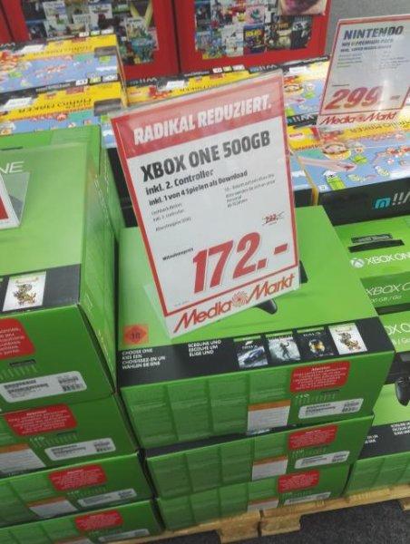 [Lokal MM in BT]? Xbox One 500gb + 1 aus 4 Spielen + 2. Controller für 172€