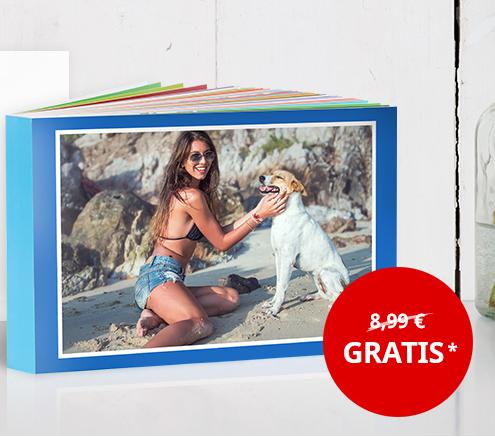 Fotobuch GRATIS (A6 quer mit 18 Seiten), zzgl. Versand