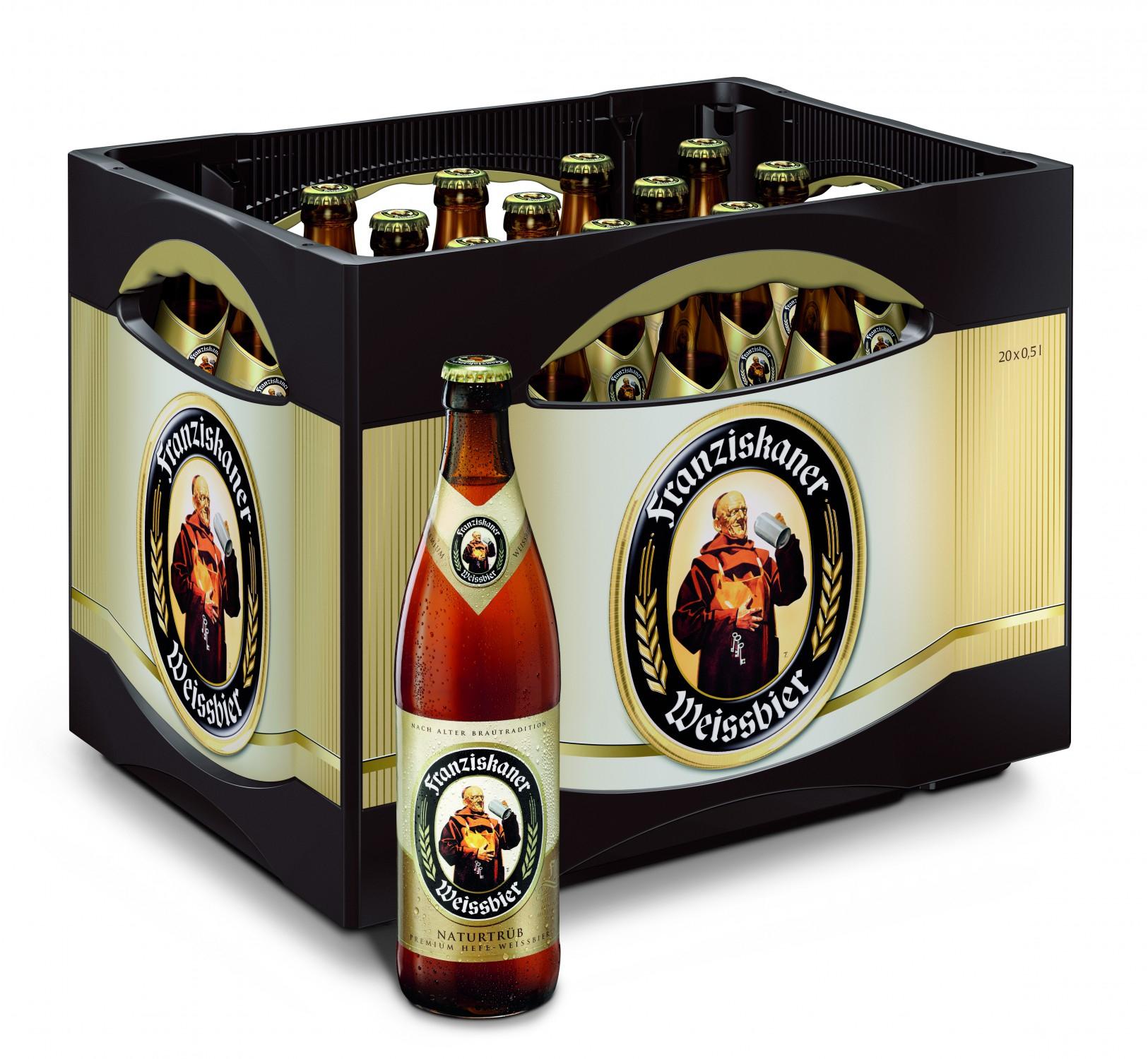 [EDEKA SÜDWEST] Franziskaner Weissbier 10,99€ [verschiedene Sorten, Kiste mit 20 x 0,5-L-Flaschen zzgl. 3,10 € Pfand (1 L = € 1,10)]