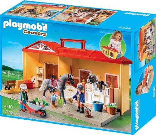Playmobil 5348 Aufklapp-Spiel-Box Mein Pferdestall zum Mitnehmen für 22,99€ mit [Amazon Prime und Galeria Kaufhof] statt ca. 40€
