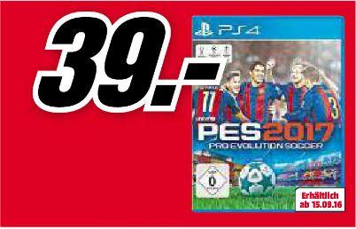 [Lokal Mediamarkt Ingolstadt] Pro Evolution Soccer 2017 (PES 2017) (PS4) für 39,-€