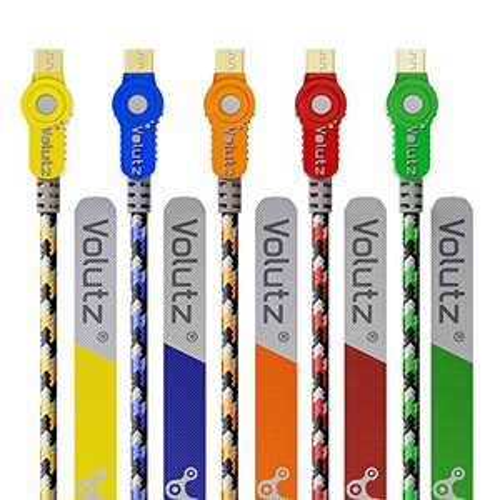 10x Volutz Micro-USB Datenkabel nylon, 1x3m 1x2m 8x1m Länge