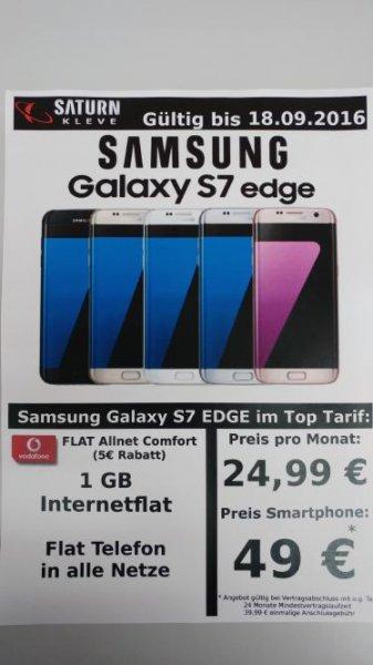 (Saturn Kleve - lokal) Samsung Galaxy S7 Edge mit Vodafone Flat Allnet Comfort
