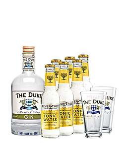 The Duke Munich Dry Gin mit FeverTree Tonic und Gläsern