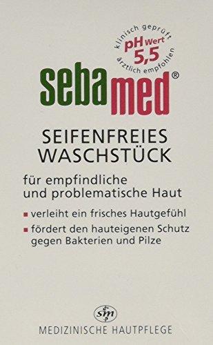 [Amazon PLUS-Produkt] oder Sparabo Sebapharma sebamed Waschstück, 3er Pack (3 x 150 g)
