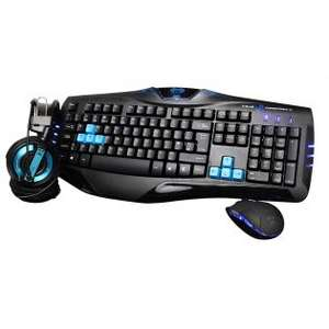 (Redcoon und Redcoon ebay) E-Blue Cobra Combo Set (Tastatur-Headset-Maus-Set, 3 Tasten, USB) Layout QWERTY