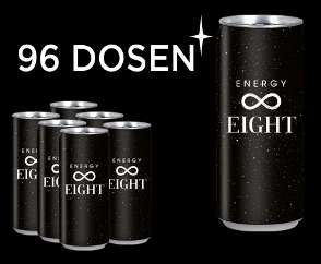 Energy Eight - nur 0,44 € / 250 ml Dose - inkl. Versand - Pfandfrei