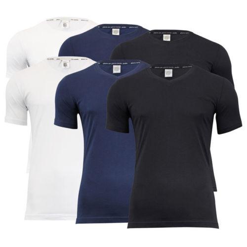 4er Pack Pierre Cardin T-Shirts Rundhals V-Neck S M L XL XXL 3XL versch. Farben
