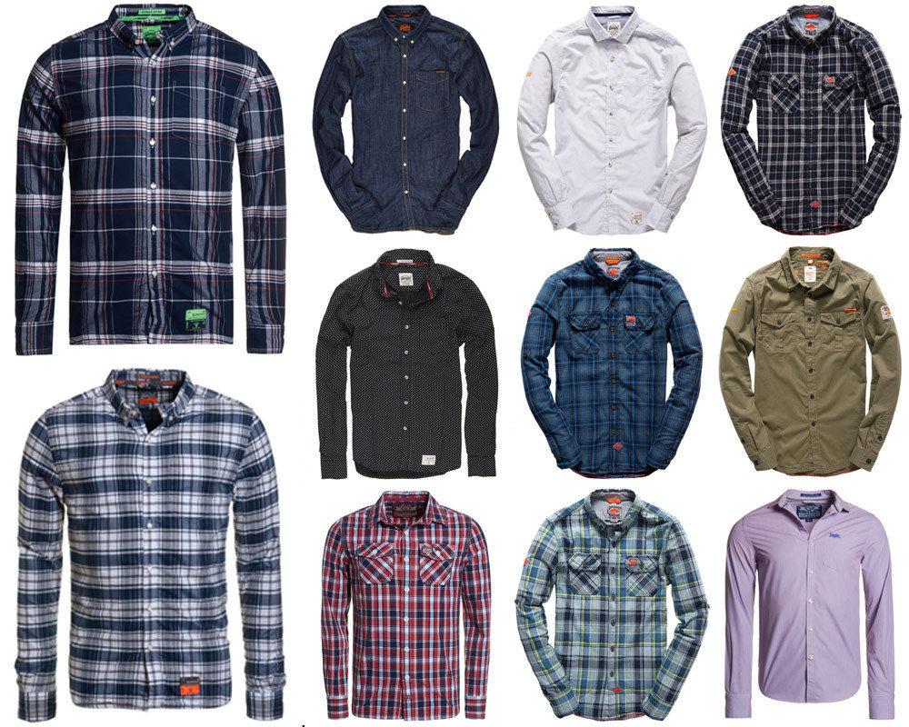 Herren Superdry Hemden in versch. Modellen und Farben für 15,96 € im offiziellen Superdry-Store @eBay