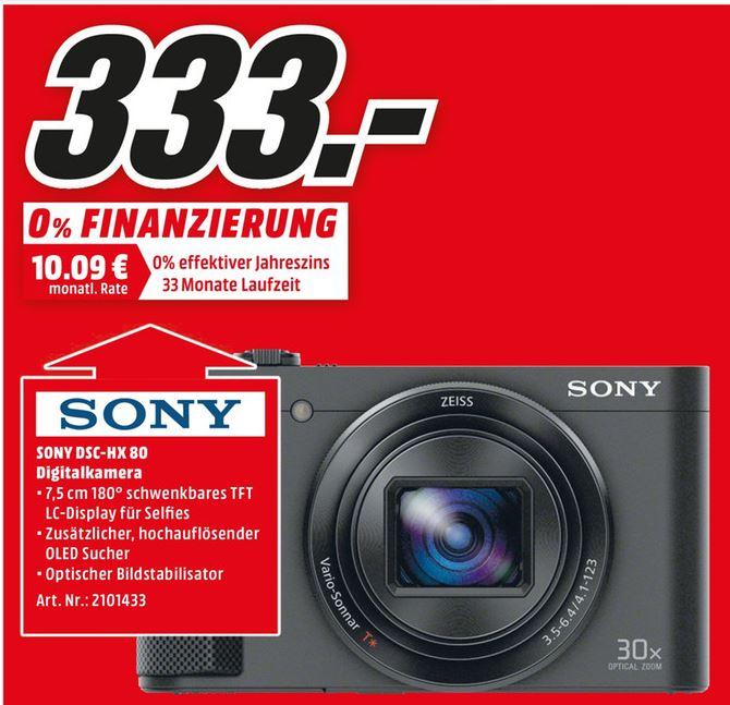 Sony Cybershot DSC HX80 für 333€ @MediaMarkt (Lokal)