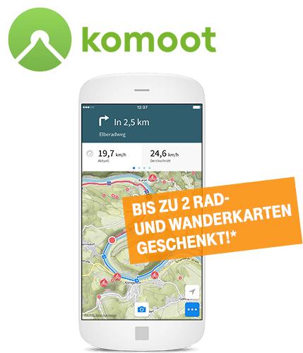 Komoot - 2 gratis Regionen (für komoot-NK) oder 1 gratis Region (für komoot-BK) für Telekom-Kunden
