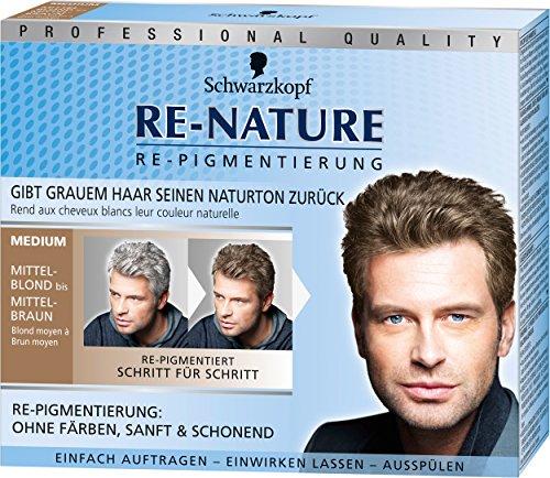[amazon prime] Schwarzkopf Re-Nature Re-Pigmentierung für Männer, medium, 3er Pack