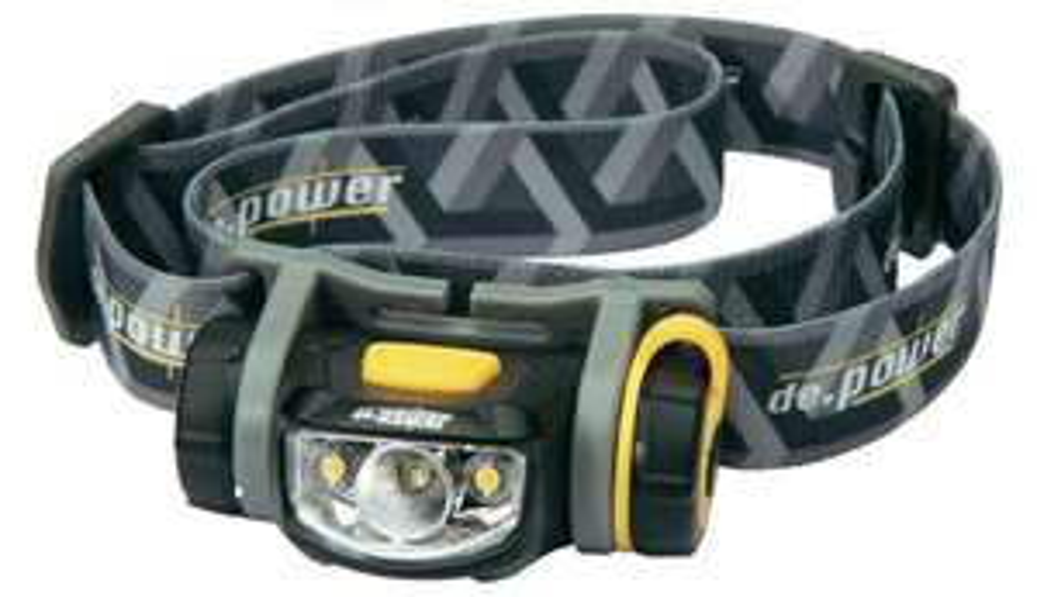 De.power LED Stirnlampe DP-800 batteriebetrieben 68 g Schwarz-Grau DP-800AA
