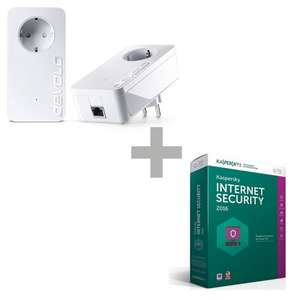 devolo dLAN 1200+ Starter Kit + Kaspersky Internet Security 2016 für 99€ bei Comtech
