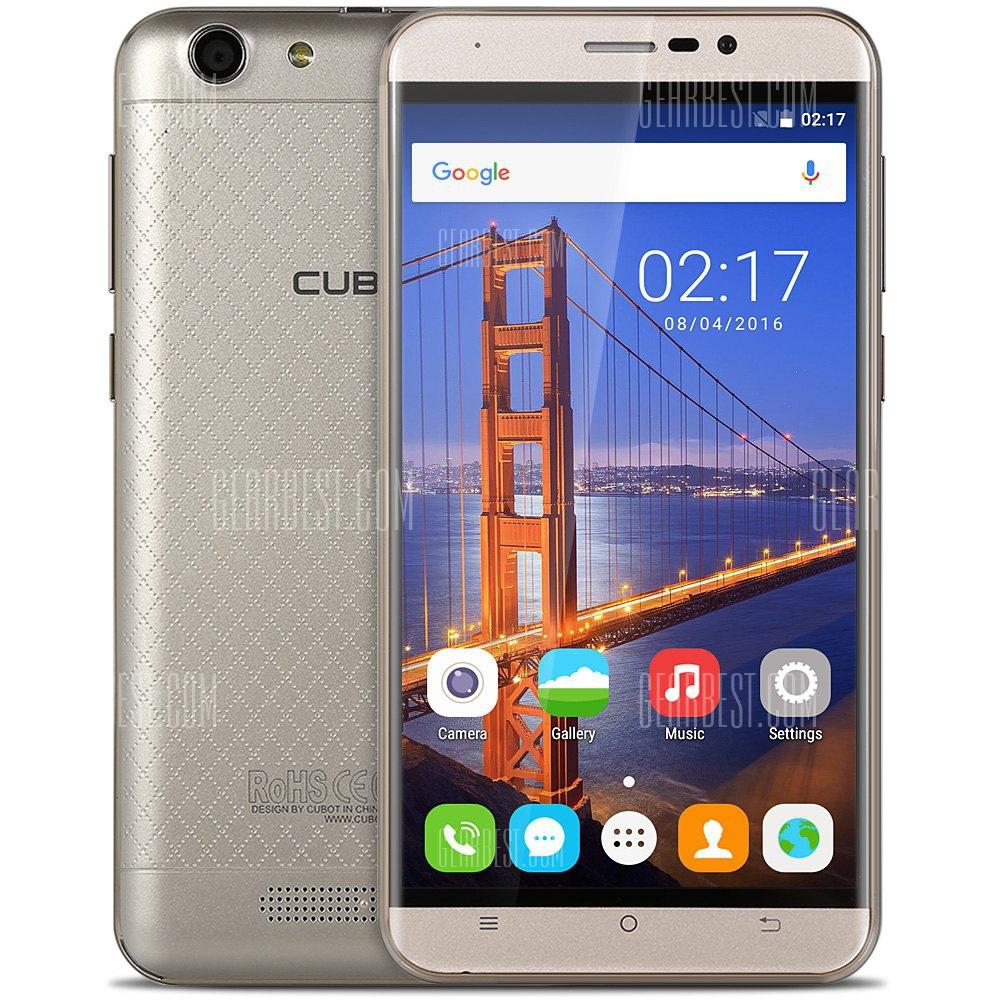 "CUBOT Dinosaur 4G Smartphone (Champagner): 5,5"" IPS HD Display, 3GB Ram, 16GB Speicher, Android 6.0, Dual-Sim+Micro SD, 13MP Kamera, OTG, Bluetooth für 99,50€ @Gearbest (EU Lager Expressversand]"