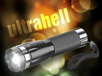 LED-Taschenlampe, mit  3W-Cree-LED, fokussierbare Linse für 4,90€ @Pearl