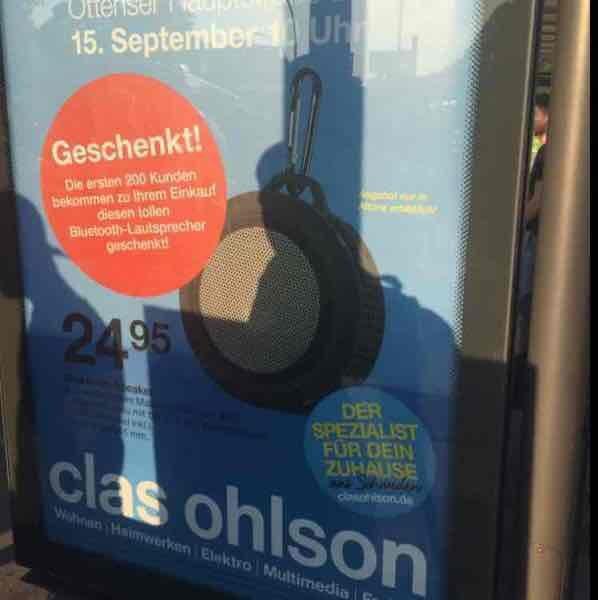 [Lokal Hamburg] Neueröffnung Clas Olson - Bosch PSR Select + Gratis Lautsprecher