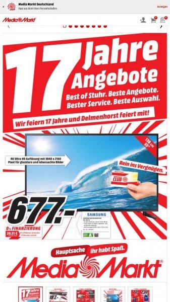 [Lokal] Media Markt Delmenhorst + Stuhr Samsung UE 55 JU6050 UXZG 4K-LED-TV für