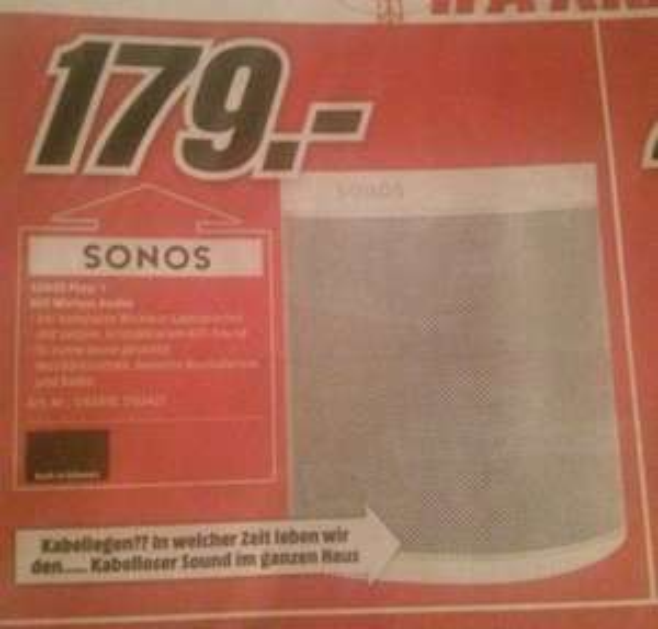 Lokal Memmingen Mediamarkt Sonos Play:1