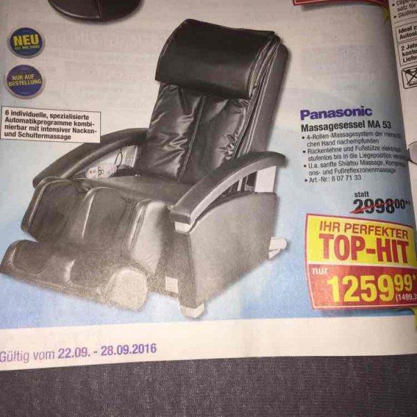 Panasonic Massagesessel MA 53  bei der Metro für 1499,39€ statt nächste Preis bei Idealo 1869,66€
