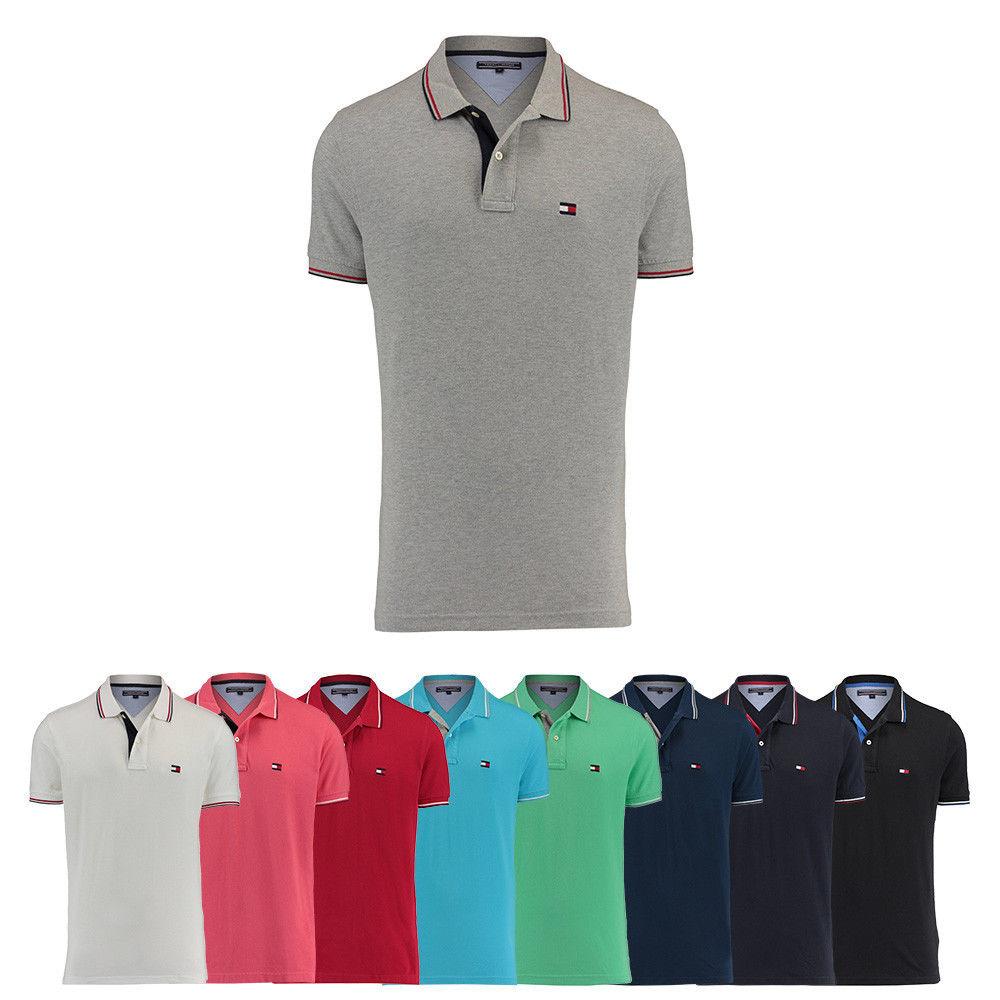 ( eBay )Tommy Hilfiger Herren Poloshirt C-New Flag Kurzarm S M L XL XXL NEU Regular Fit