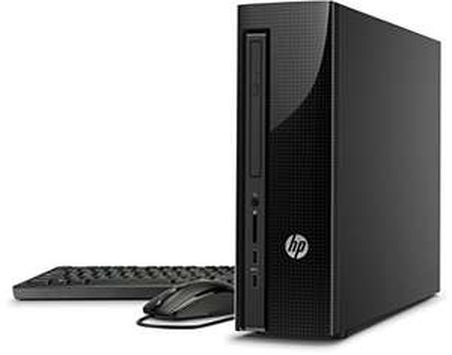 (amazon)  HP Slimline 410-100ng Desktop-PC (Intel Core i3, 4GB RAM, 1TB HDD, AMD Radeon R5 330, DVD-Brenner, Windows 10) schwarz