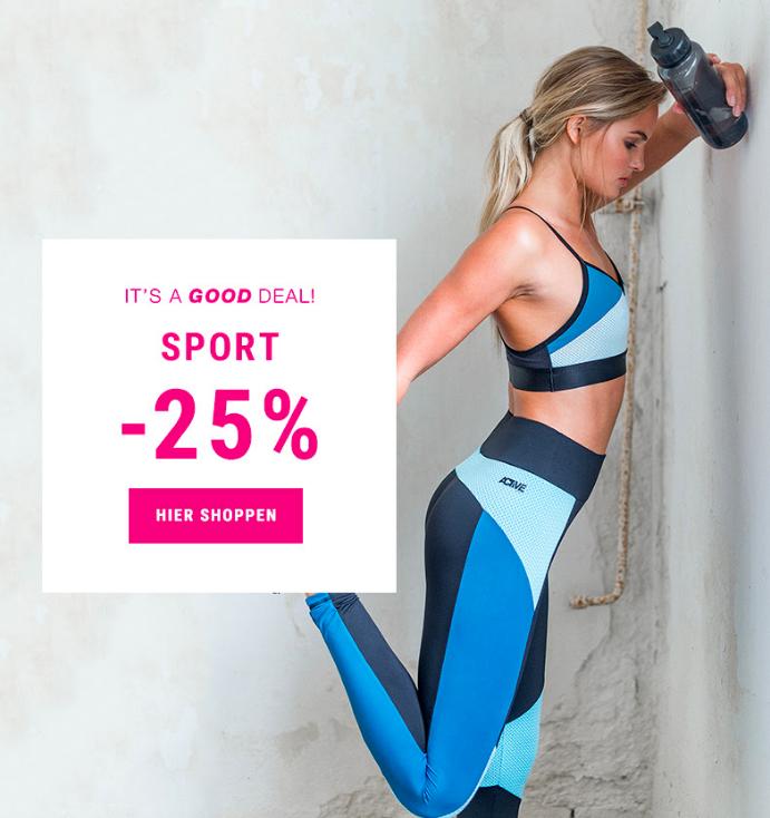 25% Rabatt auf Sportkleidung und -accessoires bei Gina Tricot (on- und offline)