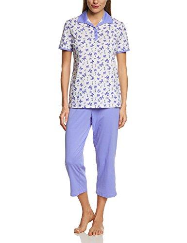 Amazon Prime: Seidensticker Damen Zweiteiliger Schlafanzug Anzug 3/4  Gr. 38 / 40 / 44