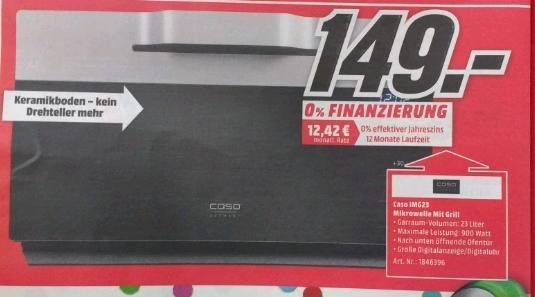 Caso IMG 23 Inverter Mikrowelle mit Grill[lokal MM Neumarkt]
