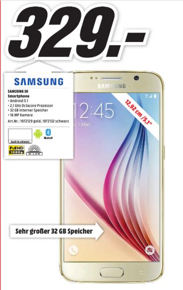 [Lokal Media Markt Ingolstadt] Samsung Galaxy S6 für 329€
