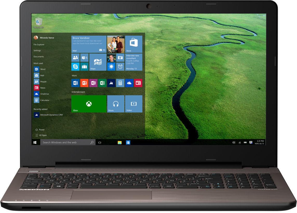"MEDION AKOYA E6424 MD: 15,6"" Full HD Notebook, i5-6267U Skylake, 6GB Ram, 1TB HDD, 128GB SSD, Iris Grafik 550, DVD Brenner, HDMI, Bluetooth 4.1, 2x USB 3.0, Windows 10 für 469,99€ (Medion B-Ware)"